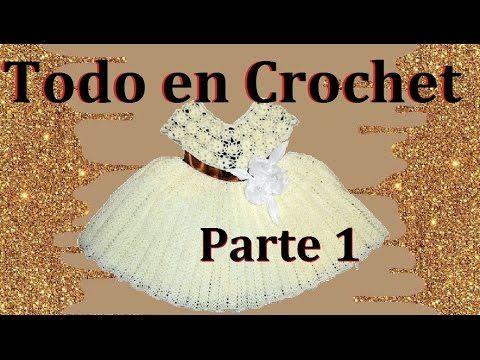 vestido de flores en crochet parte 1 de 4