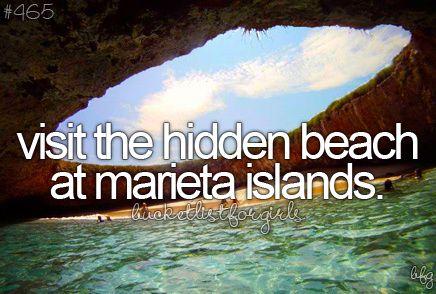 bucket list- visit the hidden beach at marieta islands
