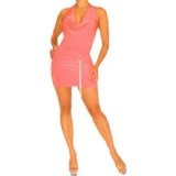 Oxygen Pink - Mini Dress w/ O-ring Belt Accent (Apparel)By Hot Fash