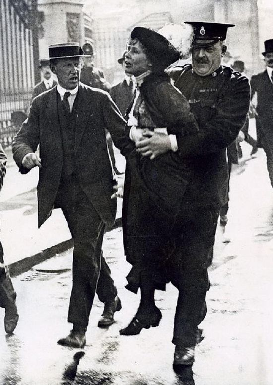 Woman arrested for protesting: Women's Suffrage Movement