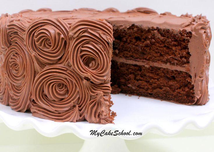 Recette de gâteau de mélange de gâteau au chocolat doctored fabuleux par MyCakeSchool.com! Facile, Supe …   – Baking