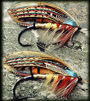 Too cool! Initially thought these were decorative, but apparently they're classic salmon flies. (I've only ever used trout flies)