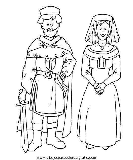 Dibujos para colorear - Edad Media | Para clase | Pinterest | Medium