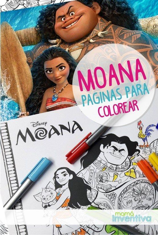 Moana Paginas para imprimir y colorear  Moana Printable coloring Pages