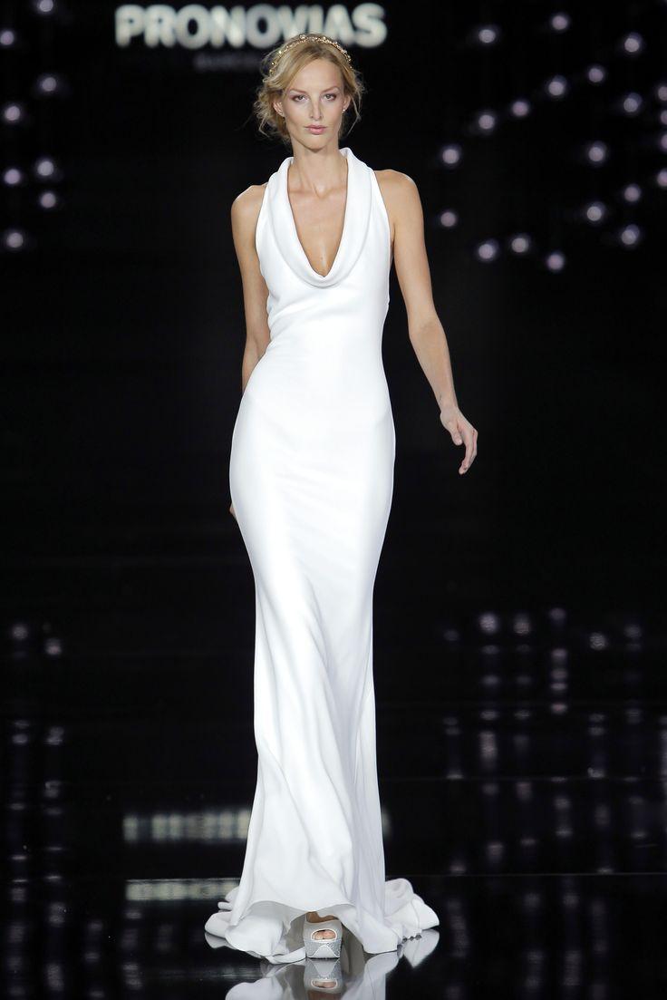 Michaela Kocianova in Niagara dress made of crepe.