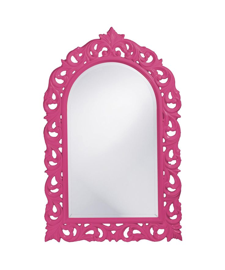 """Orleans 30"""" Wall Mirror in Hot Pink: Wall Mirror in Hot Pink #lighting #lights"""