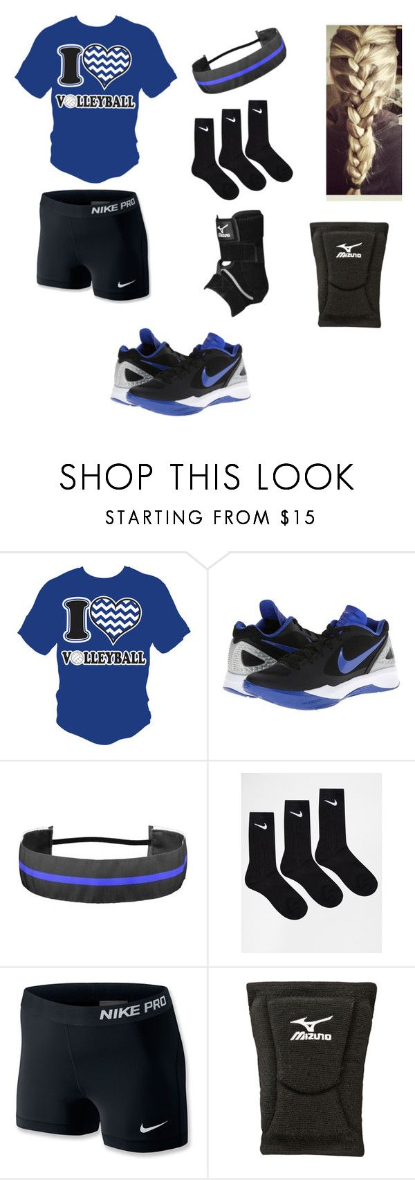 """""""Volleyball Outfit"""" by tmulv2701 ❤ liked on Polyvore featuring NIKE, Mizuno and volleyballlife"""