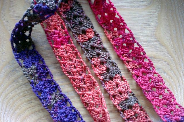 crochet skinny scarf, belt..It's cute no matter what you use it for. Maybe even a hair band.