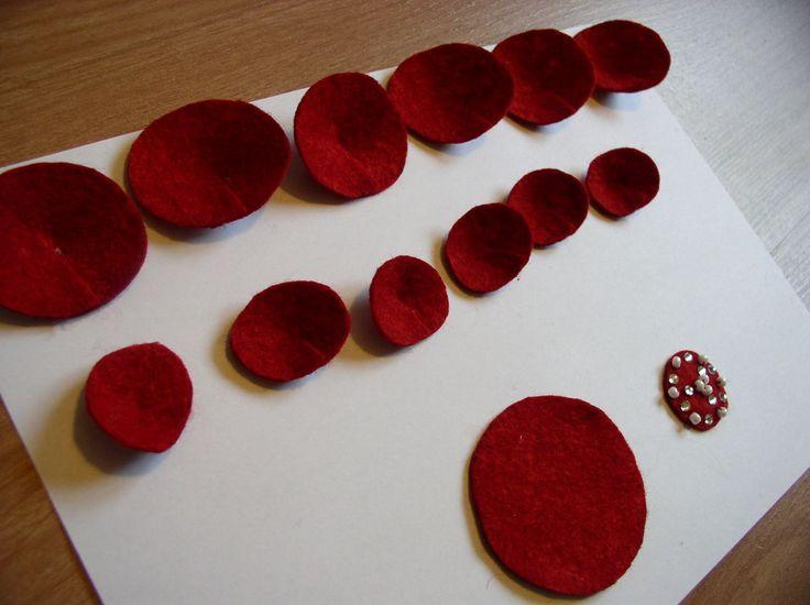 Filc virág dísz készítése lépésről-lépésre | Kreatív Otthon Díszítés