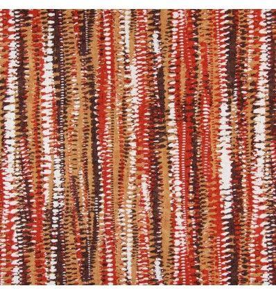 Draperie bumbac dungi maro rosu 1.50m latime Prestigious, Fiji 1382-182