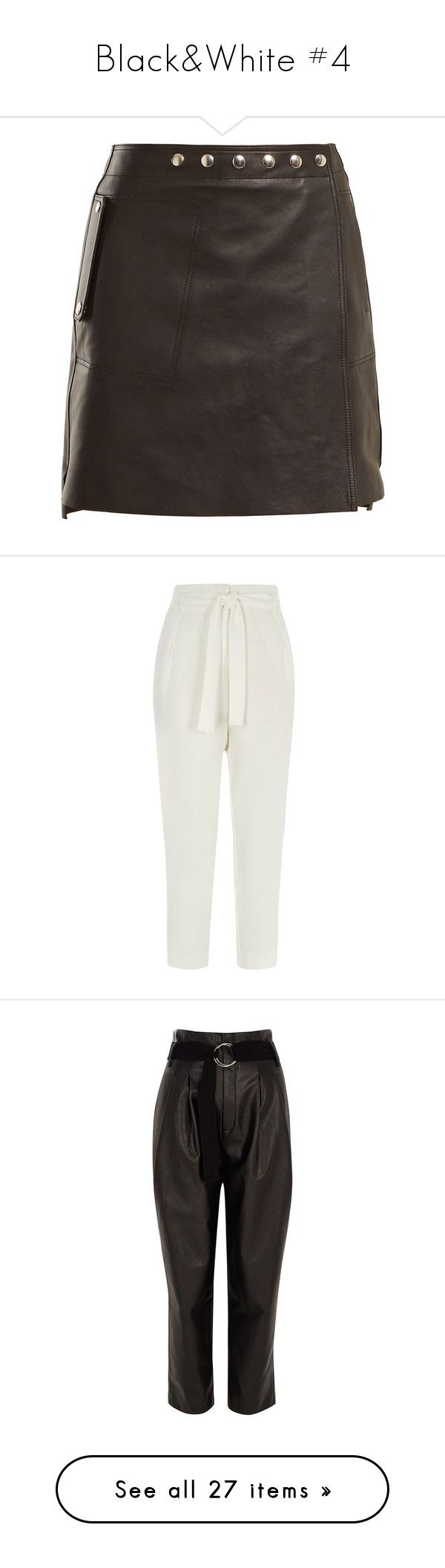 """""""Black&White #4"""" by webuildbridgesnotwalls ❤ liked on Polyvore featuring pants, tapered trousers, white, women, peg leg pants, tall white pants, tapered fit pants, white zipper pants, taper cut pants and black"""