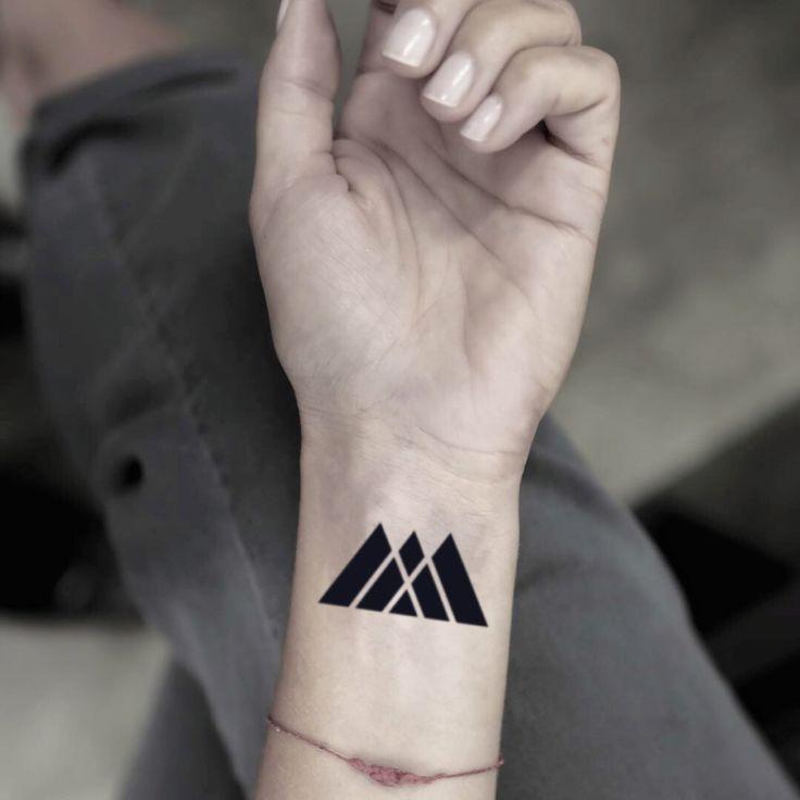 Destiny warlock symbol temporary tattoo sticker set of 2