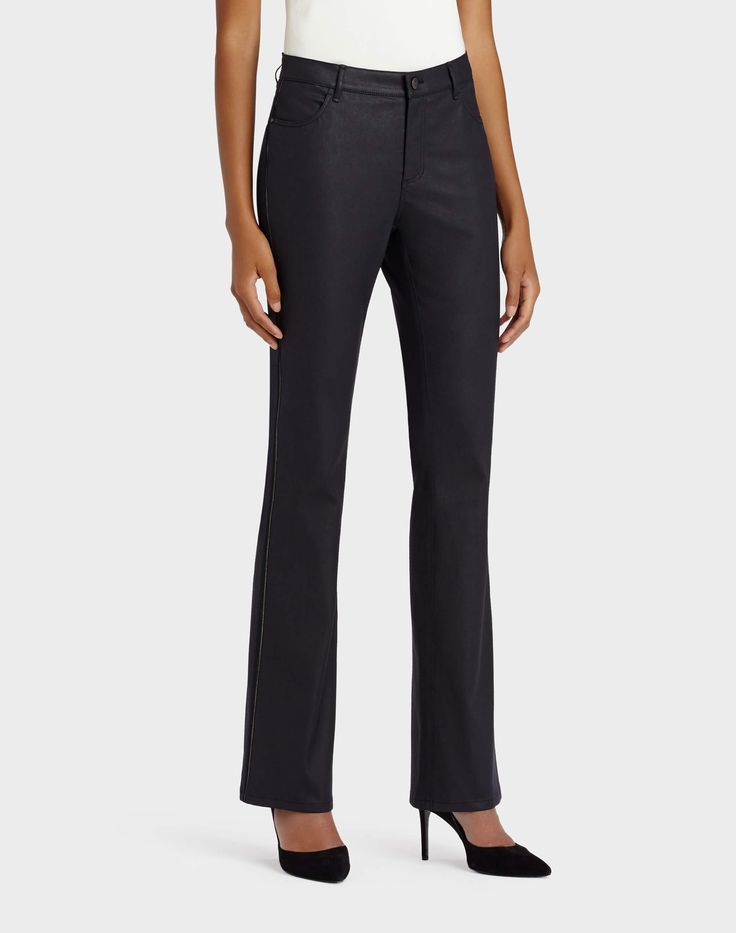 Waxed Denim Thompson Bootcut Jean - Pants - Collection | Lafayette 148 New York
