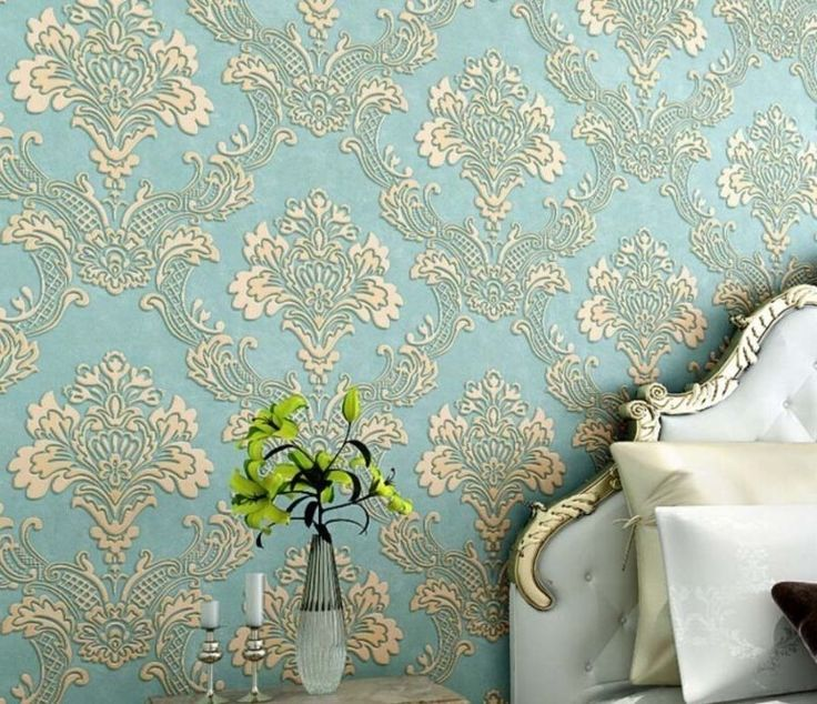Non-Woven Damask Wallpaper Roll 3D Vintage Embossed Wall Paper Bedroom Decor. #GoldenMak