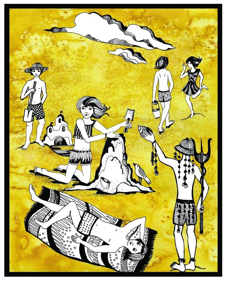 Автор: Матюхина Ольга. Иллюстрация: дети на пляже