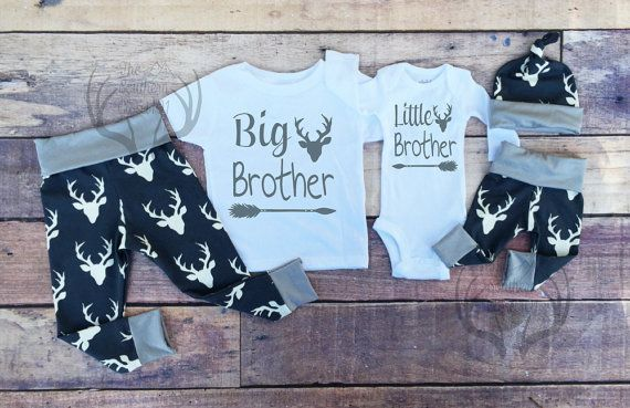 Big Brother Little Brother Outfits Baby by TheSouthernCloset101