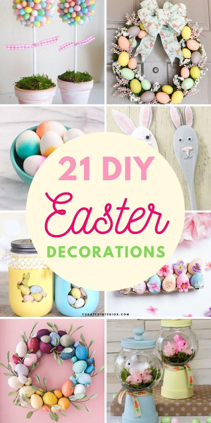 21 Diy Easter Decor Ideas Easter Diy Diy Easter Decorations Easter Egg Wreath Diy