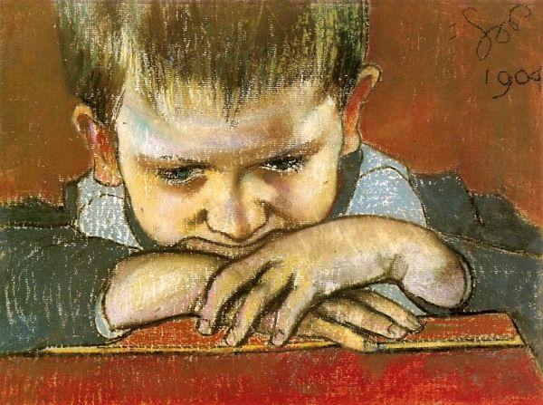 Study Of The Child – Mietek by Stanislaw Wyspianski
