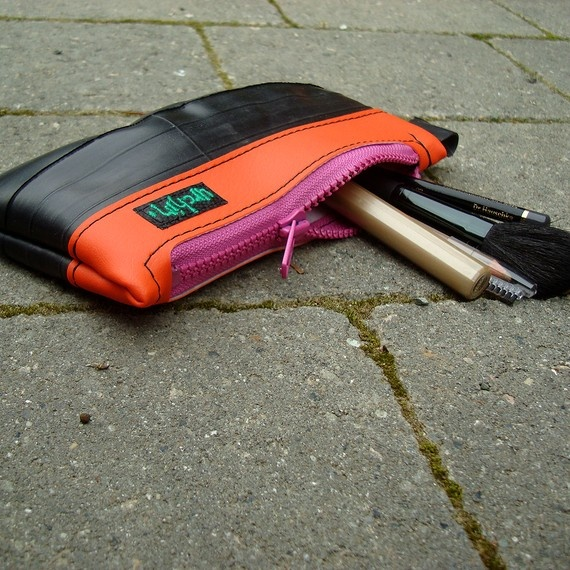 Pencil case makeup case made from reclaimed bike by urchinbagsMakeup Case