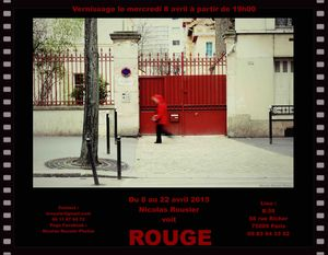 Expos Photos - -ROUGE- Exposition Photos gratuite @ LE B58 - Paris, 75009