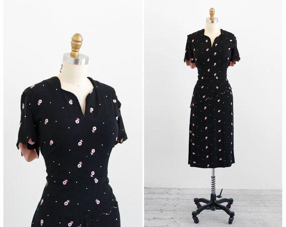 1940s plus size dress / 40s plus size dress / by RococoVintage, $158.00: 1940S Swoon