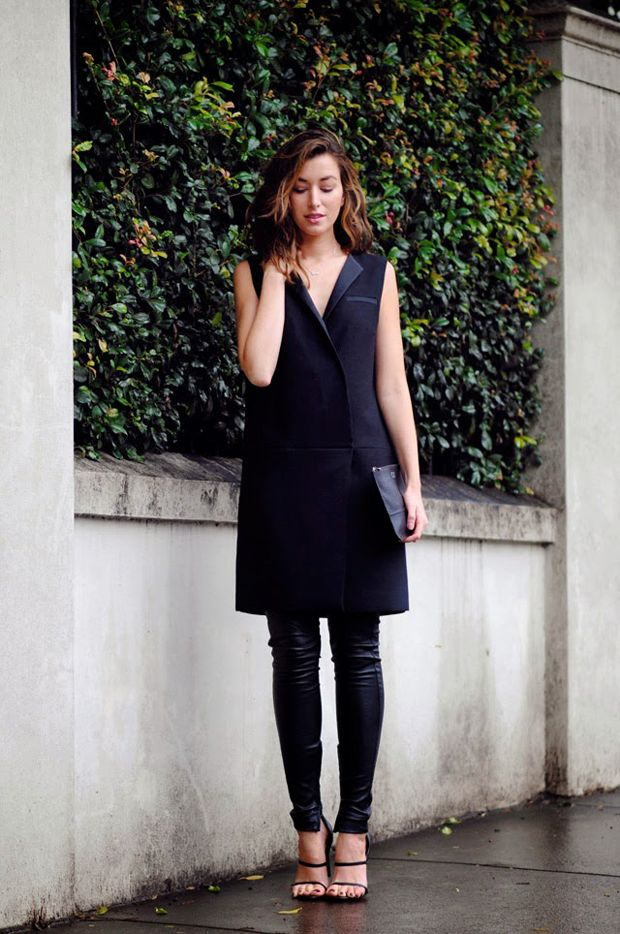 street style, style inspiration, dress over pants look, layering for the fall, fall trends 2014, stylish ways to layer, how to style a dress over pants, fall fashion