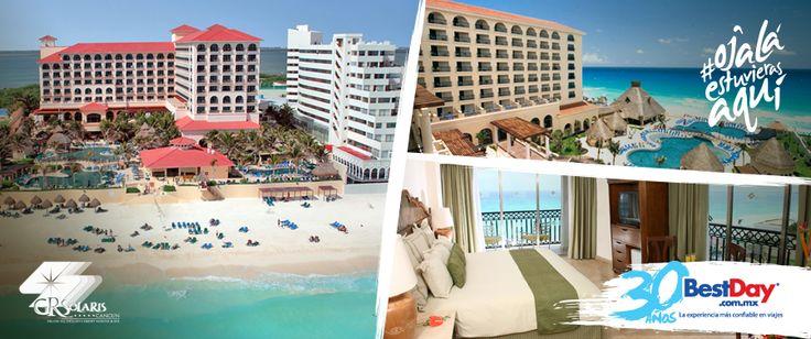 Este hotel cuenta con 306 habitaciones, ubicado estratégicamente en la Zona Hotelera de Cancún. Esta propiedad frente a la playa tiene un plan Todo Incluido y un ambiente familiar, así como instalaciones diseñadas con estilo caribeño con una gama de servicios que incluyen varios centros de consumo, club infantil y un completo spa. #BestDay #OjalaEstuvierasAqui