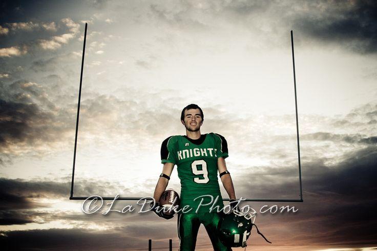 Football Senior Portrait - Spokane Washington