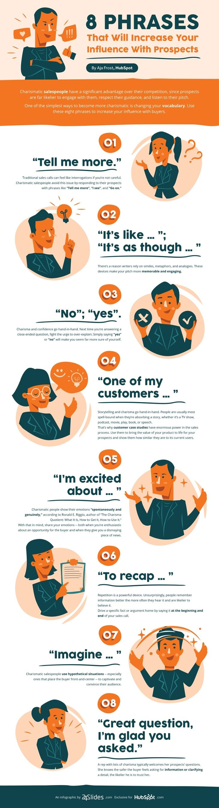powerful phrases to influence your prospects #infographics