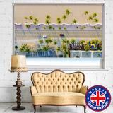 TROPICAL BEACH AERIAL PHOTO ROLLER BLIND