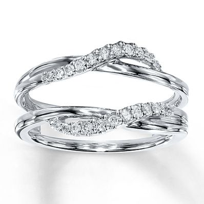 Diamond Enhancer Ring 1/5 ct tw Round-cut  14K White Gold Item 040905705...this might become my wedding band :)