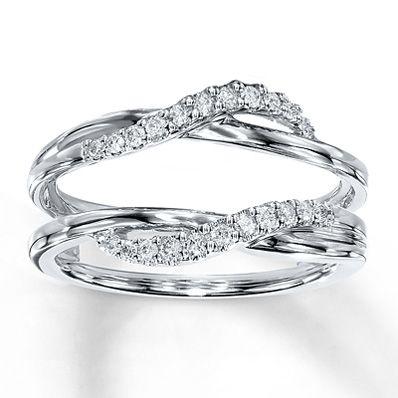 Diamond Enhancer Ring 1/5 ct tw Round-cut  14K White Gold I love this enhancer!