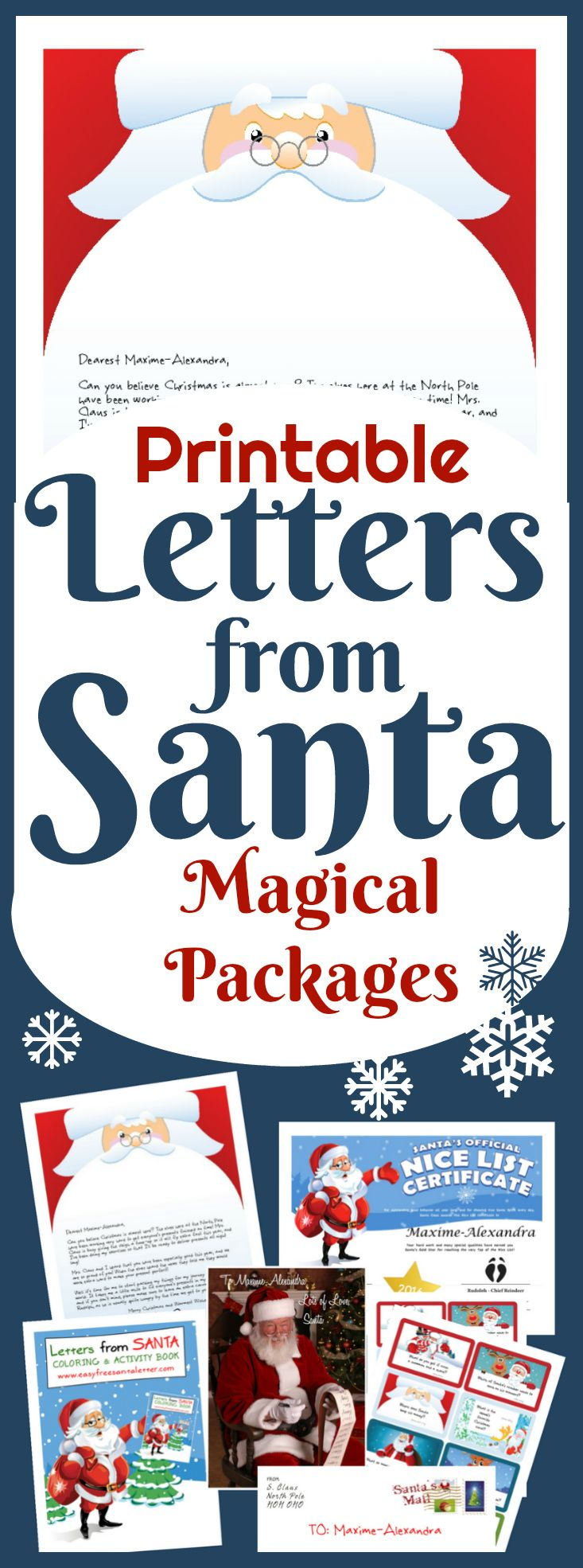 Best Printable Santa Letters Images On   Christmas