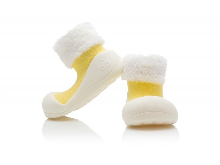 Detské topánočky ATTIPAS Macaron Yellow (hrubšia ponožka+kožušinka), L VÝPREDAJ - ATTIPAS