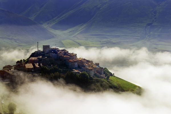 Photo: A hilltop village in Monti Sibillini National Park, Italy