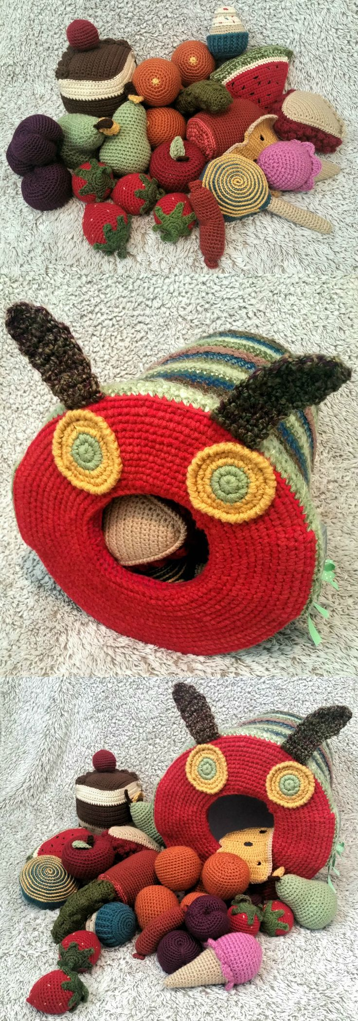 Crochet - Eric Carle's The Very Hungry Caterpillar Read Along Buddy. xoxo - Erin Allen