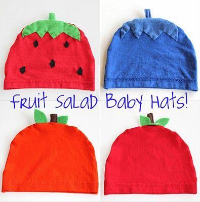 hats: Hats Tutorials, Fruit Salads, Baby Gifts, Cute Hats, Salad Baby, Baby Hats, Baby Fruit, T Shirts, Smash Peas