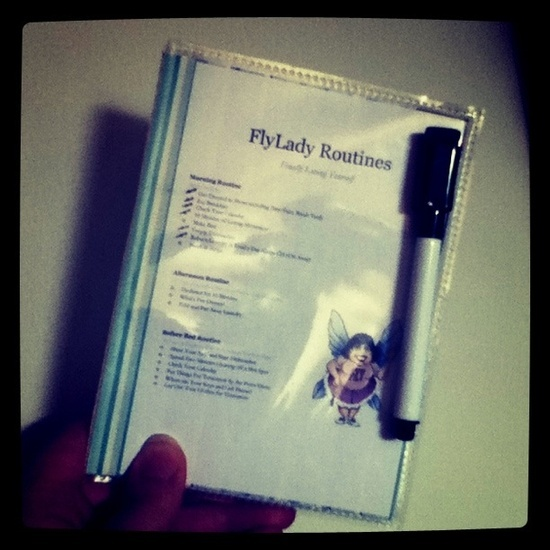 Make a FlyLady Control Journal that fits in your purse!