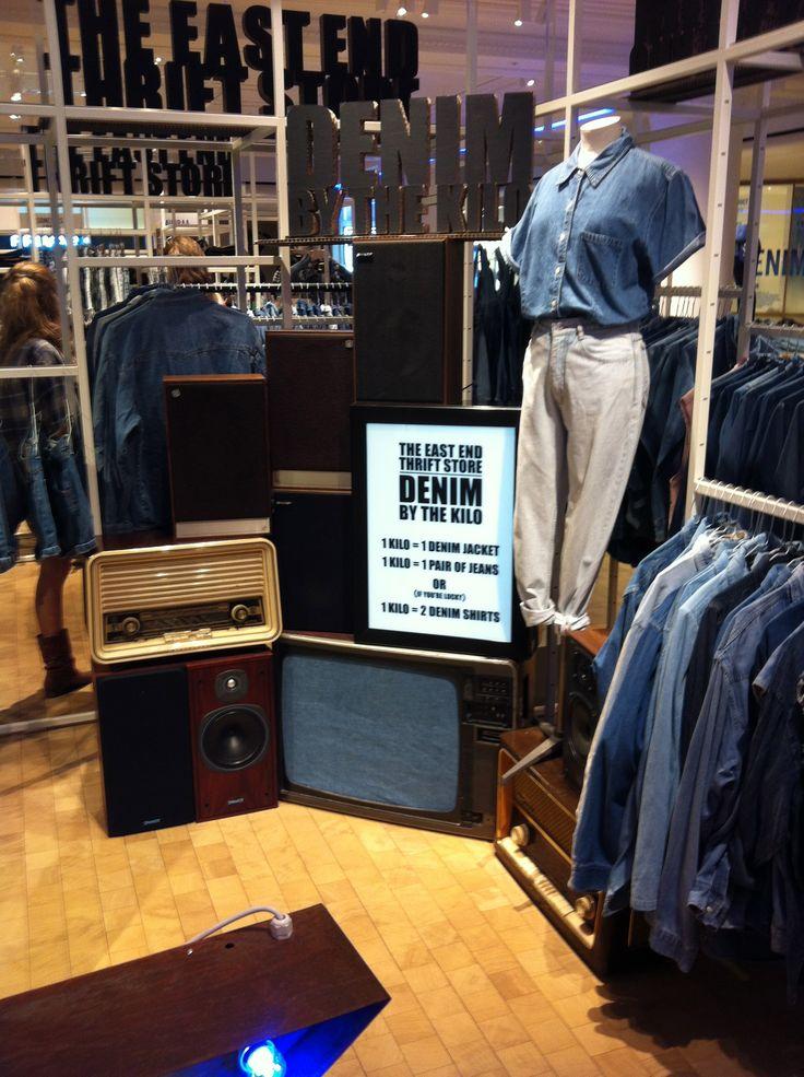 Selfridges denim studio display