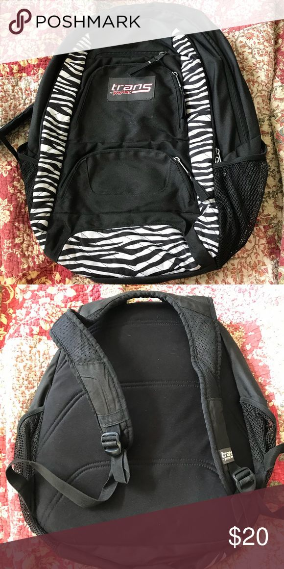 TRANS zebra striped backpack Trans zebra striped backpack with multiple compartments Jansport Other
