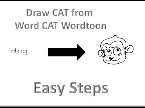how to draw Dog from word dog wordtoons