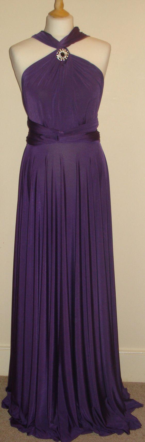 Light Aubergine Convertible Dress Infinity by stitchawayrose