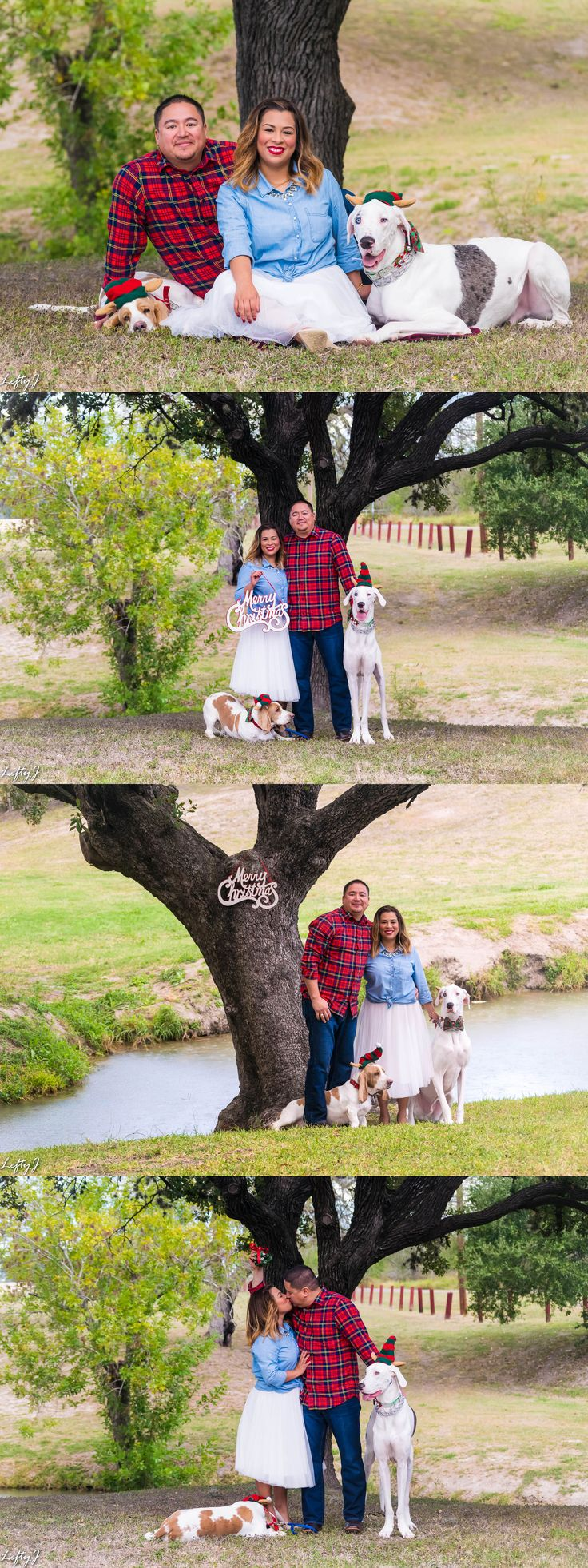 Despite the sudden downpour of rain catching us off guard, we were able to get some great shots of the Contreras family.  Contact us to book your Christmas session today. See more on our website. Link in bio.  #corpuschristiphotography #corpuschristiphotographer #christmasphotos #christmaspictures #familyphotography #familyphotos #dogphotography