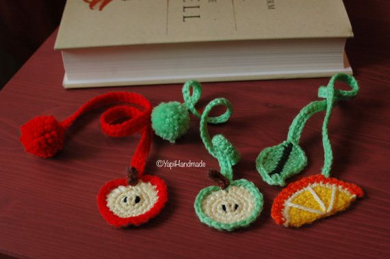 Crocheted bookmarks to make reading more colorful and fun! (on YapiHandmade Etsy store)