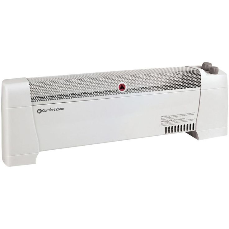 Comfort Zone Low-profile Baseboard Silent Operation Heater