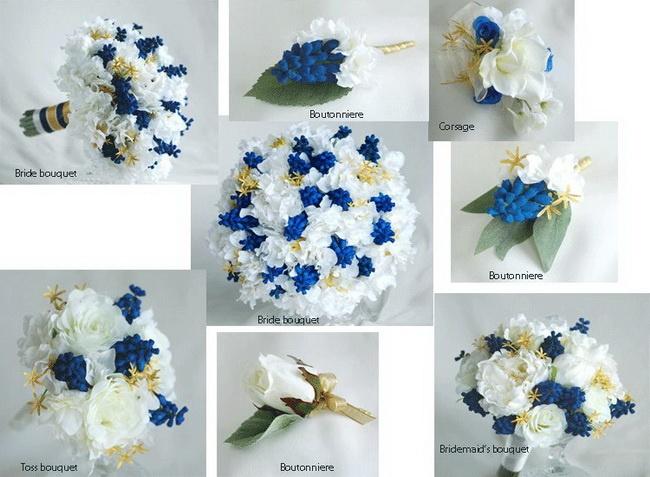 17 best images about flowers on pinterest jasmine singapore and interesting flower ideas blue silk wedding flower set mightylinksfo