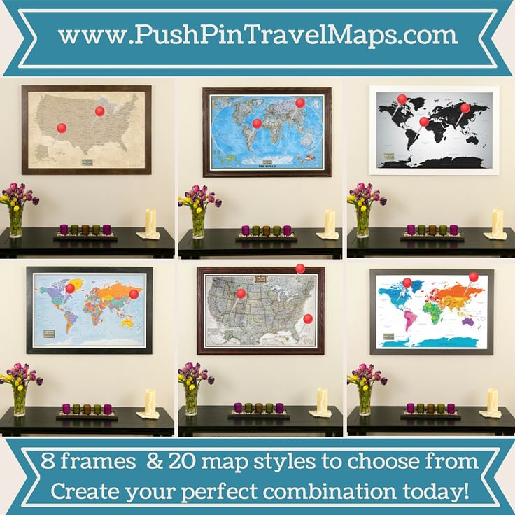 how to create a push pin travel map