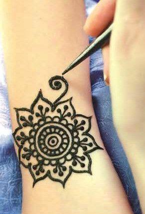 Classic Faux Henna Temporary Tattoo Midnight Set: