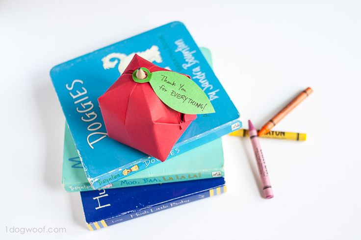 Origami Apple Favor - simple as that