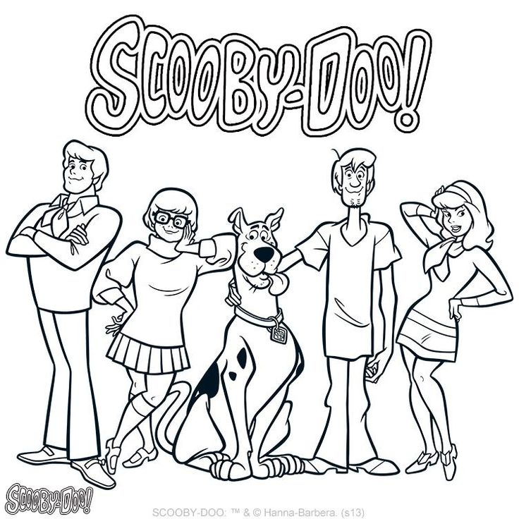 coloring pages of scobby doo - photo#7